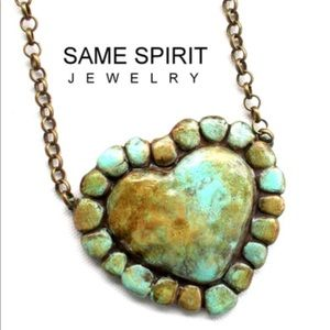 Same Spirit Clay Necklace Sunset Turquoise Choker